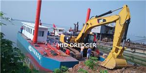 Excavator Barge for Excavator dredging project in water