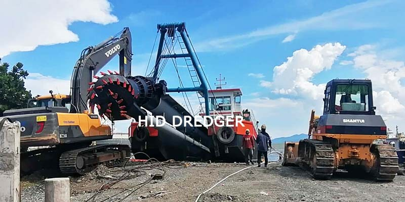 16 inch Cutter Suction Dredger for Port dredging work in Davao