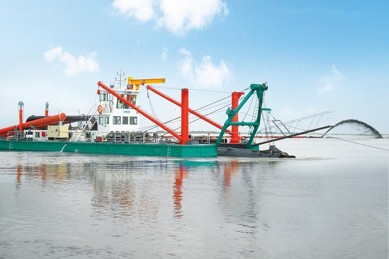 HID-5522 4000M³/H Cutter Suction Dredger for dredging river is ready to ship to Egypt