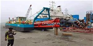 التثبيت الناجح لكراكة الشفط القاطع HID-CSD-3012P المصممة لتعدين الرمال / الشعاب المرجانية في دبي