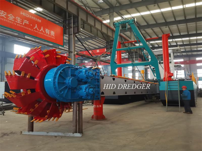 Draga de roda de caçamba hidráulica de fabricante de alto desempenho para recuperação de terreno / dragagem de areia
