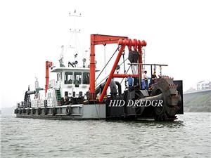 Hydraulic Bucket Wheel Sand Dredging Dredger Digunakan di Sungai untuk Pengerukan Lumpur