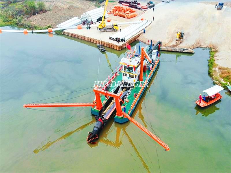 बड़ी क्षमता 26 इंच 6000 एम 3 / एच कटर सक्शन ड्रेजर ड्रेजिंग उपकरण / नदी रेत खनन