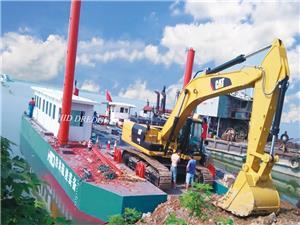 40 Dan 45 Tonnage Excavator Tongkang Penyokong - Kerja Perlombongan Pasir