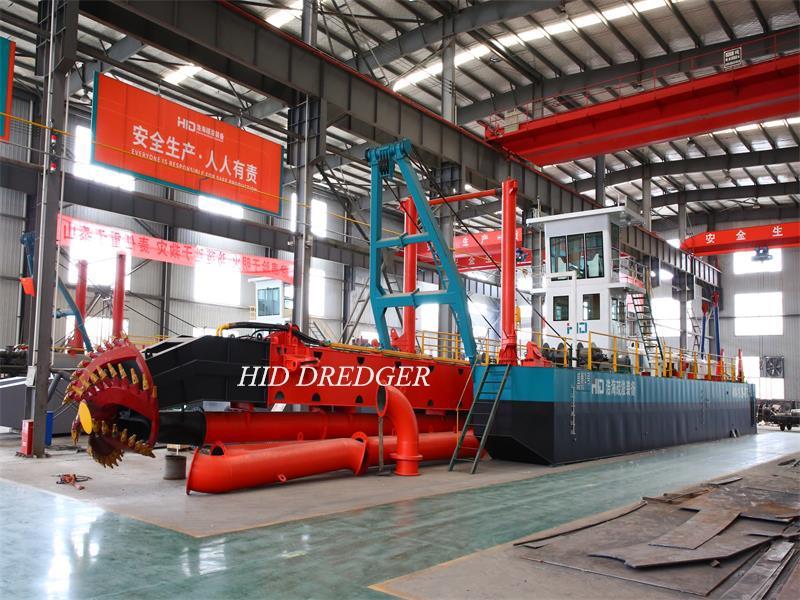 HID 20 Inch Cutter Suction Dredger Untuk Penghantaran Perlombongan Sungai