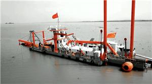 HID Build CSD650 Cutter Suction Dredger Brought Into Position to Start Lake Dredging Work