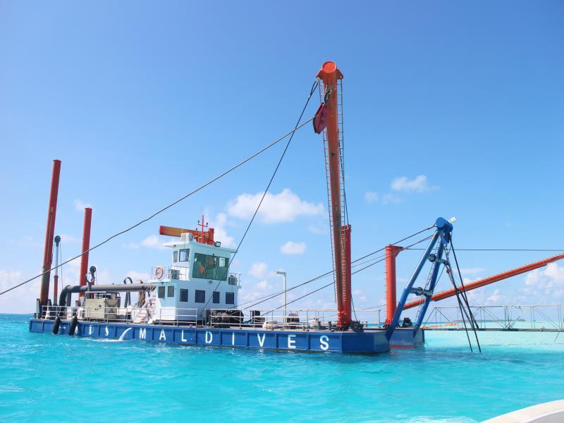 HID- CSD- 5522 Modell Cutter Saugbagger Baggerarbeiten in Ägypten und auf den Malediven zur Landgewinnung Flussbaggerungen