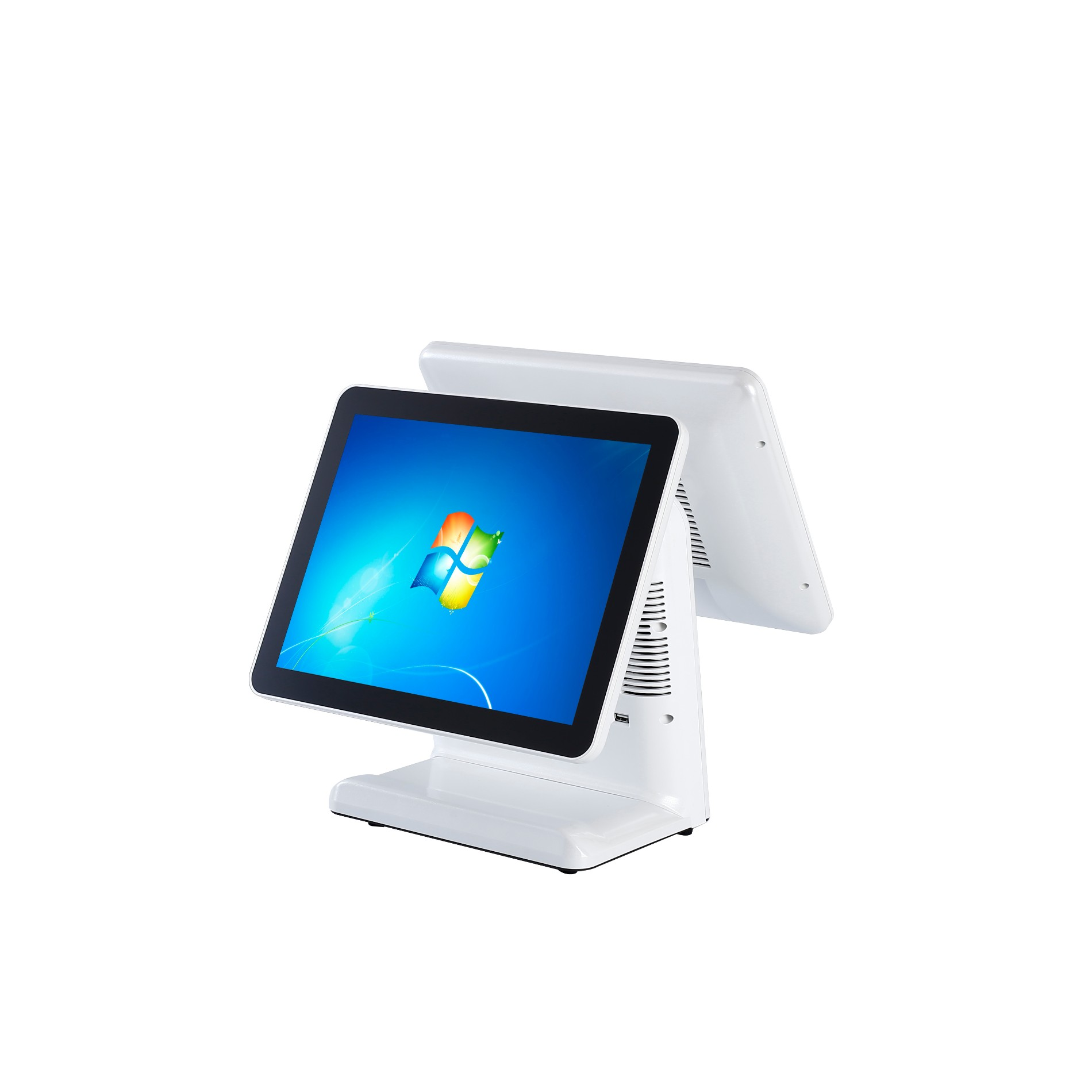 15 inch dual screen pos machine with aluminium alloy shell