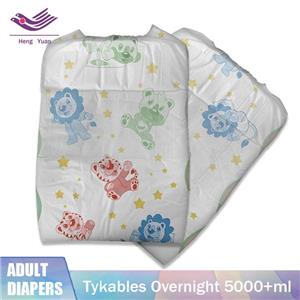 Tykables Overnight Adult Diapers Disposable Printed Large 5000ml