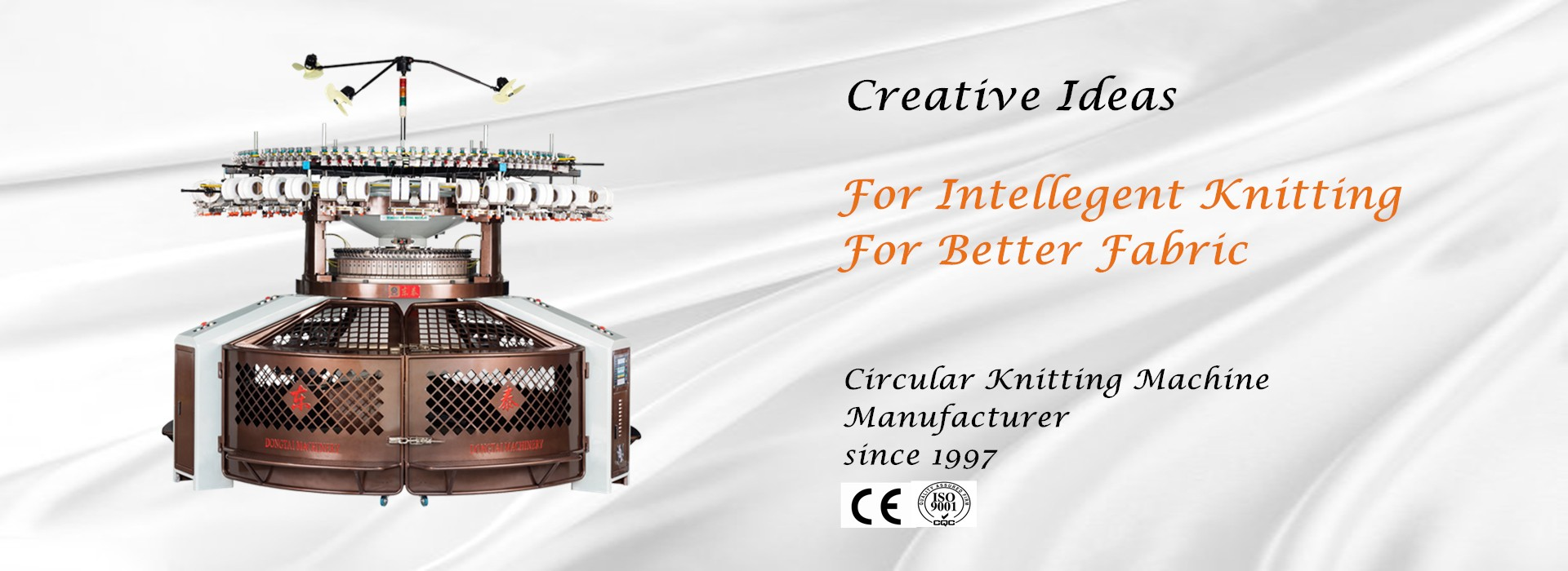 Única máquina de confecção de malhas circular
