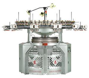 고속 인터록 원형 편직 기계
