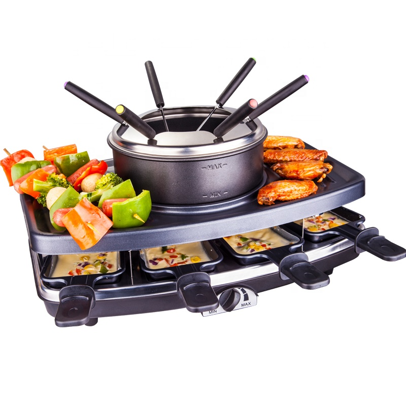 3 in 1 8 Person Raclette Grill & Fondue Appenzell