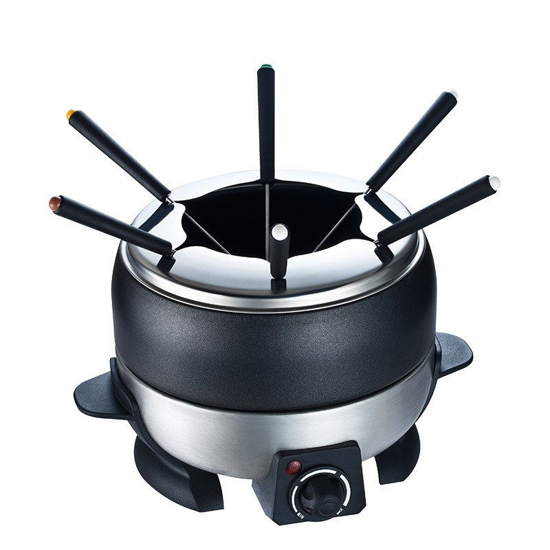 Stainless Steel Electric Chocolate Fondue Cheese Pot Set