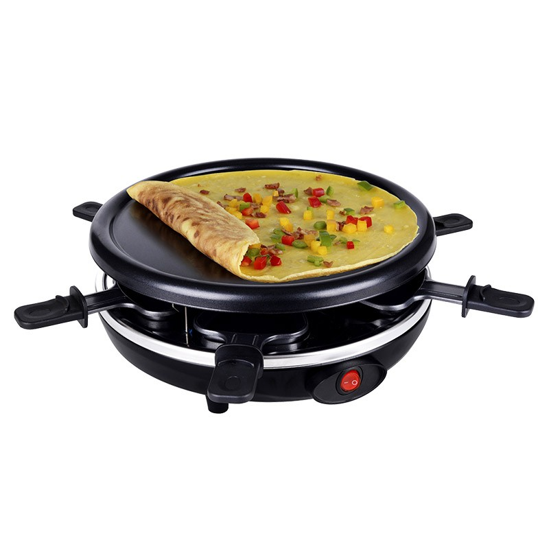 Raclette and Non-Stick Grill Set for 6 Person 900 Watt