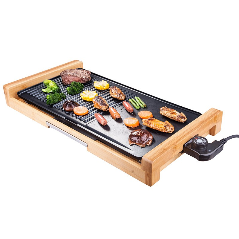Indoor 2 In 1 Electric BBQ Plancha Grill, Crepe Maker