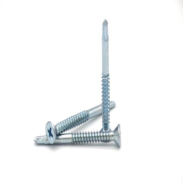 China flat head self drilling screws