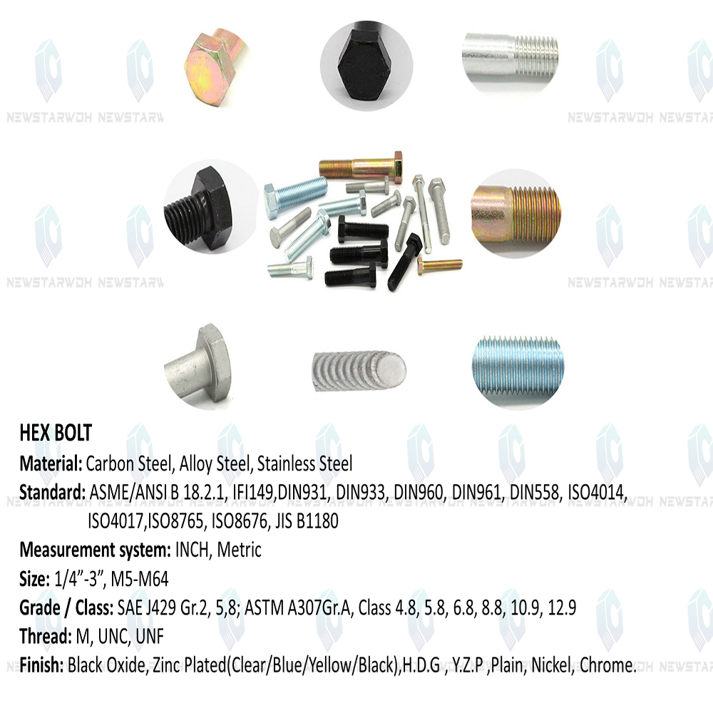 stainless hex head bolts