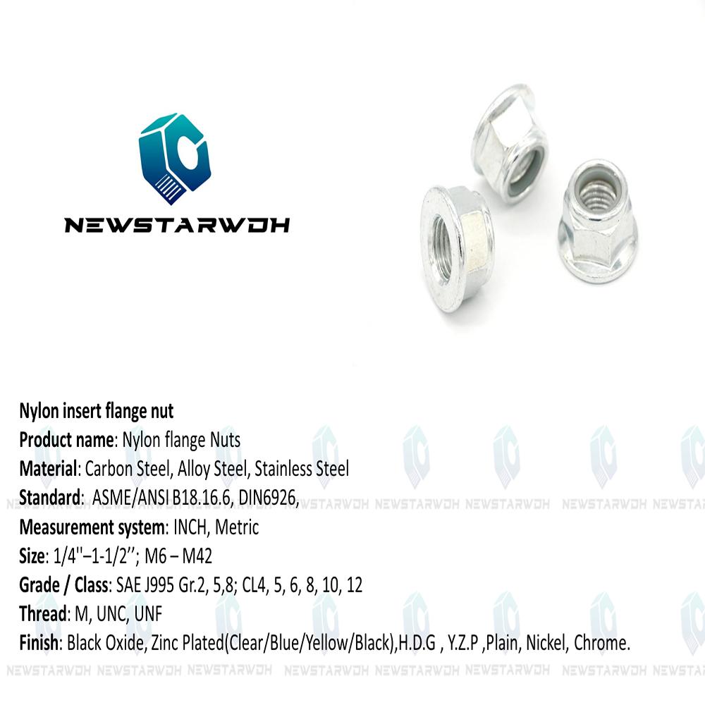China Flange Nylon  Lock Nuts