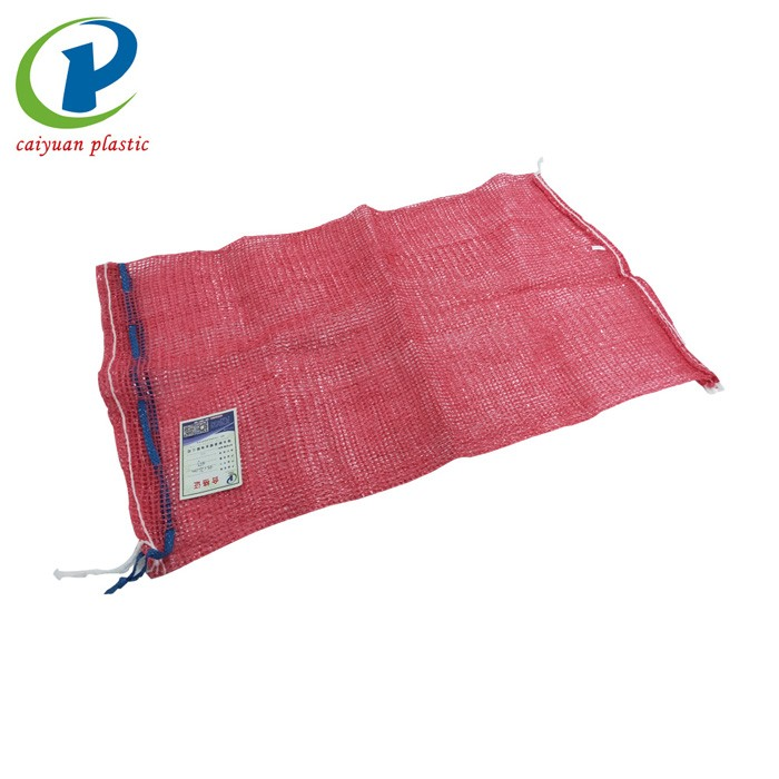 Reusable Produce Tubular Red Onion Mesh Bag