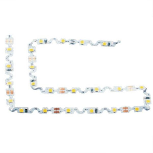 Jalur Fleksibel LED - Siri Lampu Belakang Tanda - S-Bend White 2835 60LED 12V GL-12-5257