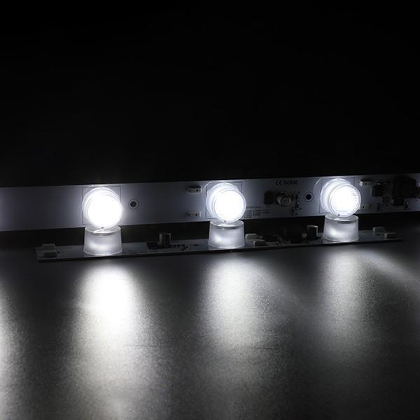 Strip Rigid LED - Siri Edgelit Iklan - Bar Cahaya 20 ° x45 ° - 6LED 24V GL-24-A107