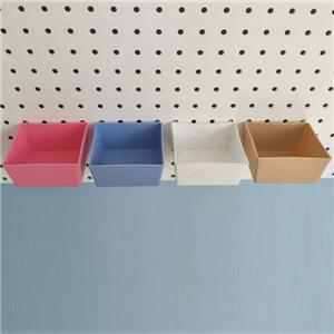 COLORED PLASTIC STORAGE BOX
