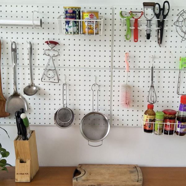 रसोई में इस्तेमाल किया खूंटी बोर्ड उपकरण हुक सहायक उपकरण