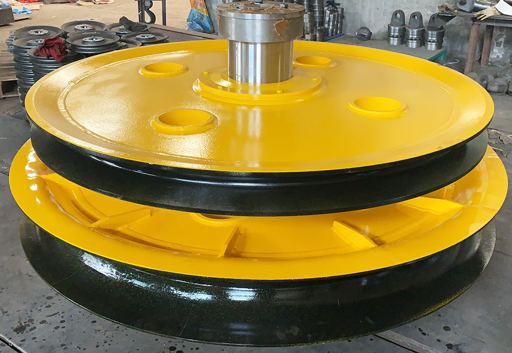 750mm Crane wheels and 1.6m diameter pulley delivery to UAE
