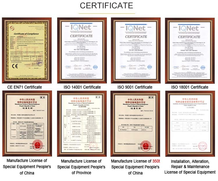 EC, ISO, and China Certificate