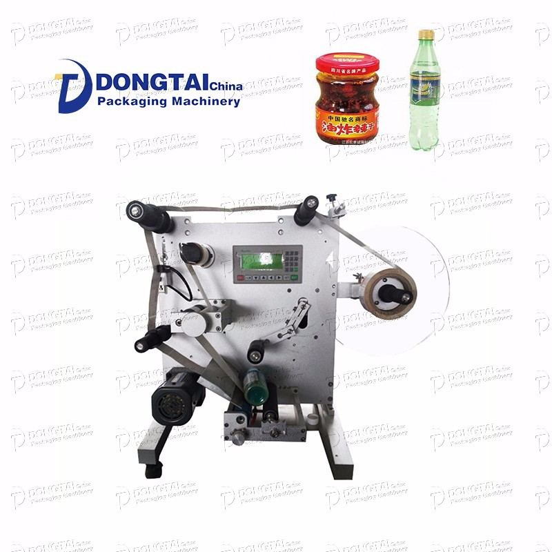 Manual Small Round Bottle Labeling Machine For Glass Bottle