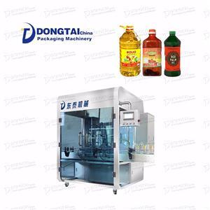 Gıda Tipi Malzeme Otomatik Yuvarlak Şişe Palmiye Yağı Dolum Makinesi