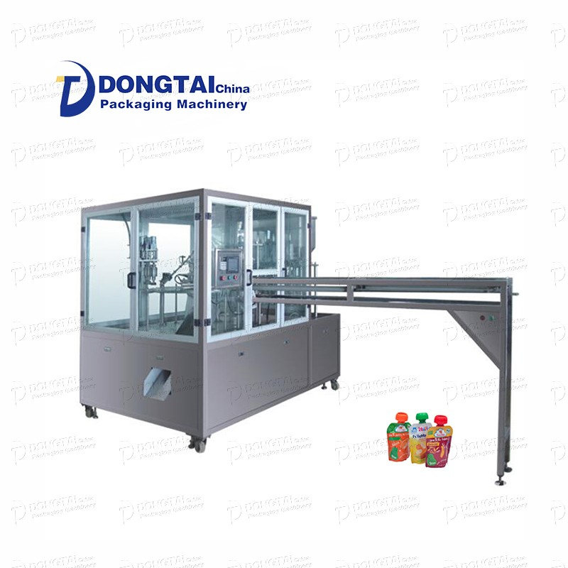 automatic Stand-up tomato chili sauce bag filling and sealing machine of good quality