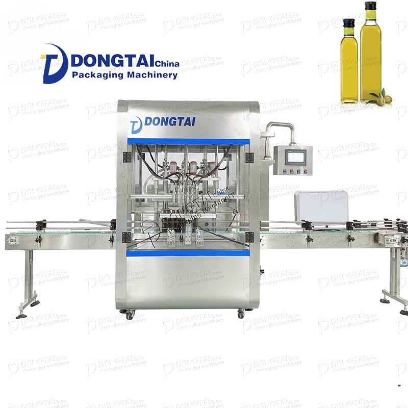 Fully automatic oil, lubricating oil, palm oil bottle filling and capping machine 1L liquid filling machine