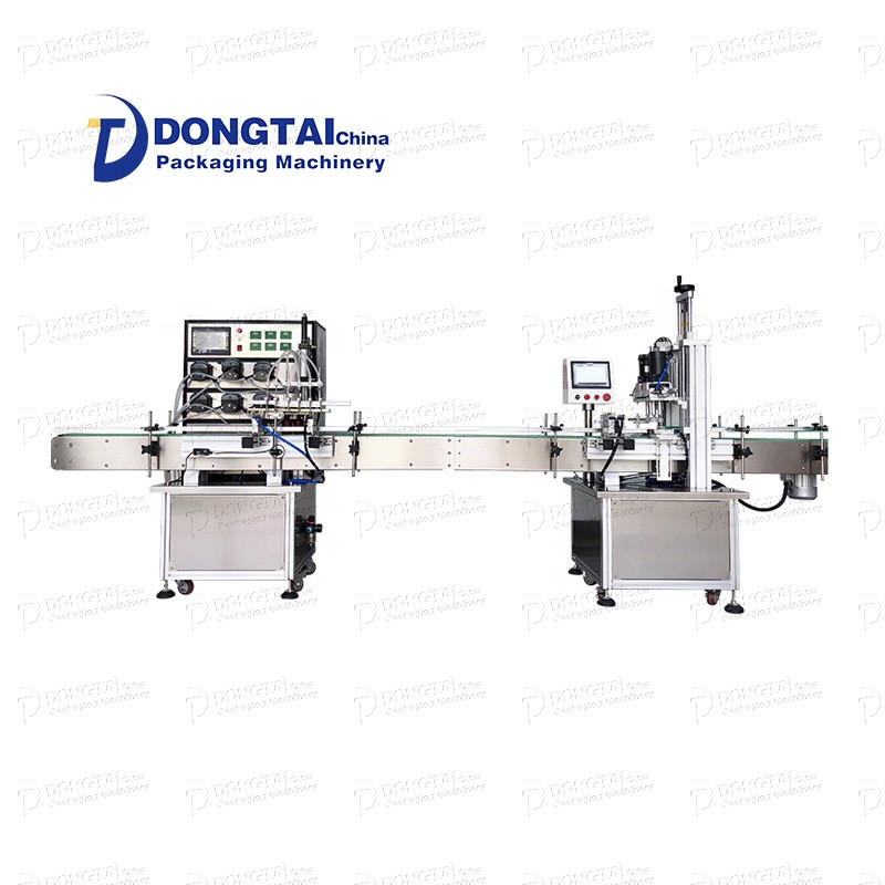 Automatic liquid alcohol disinfection bottle filling and capping machine, perfume peristaltic pump liquid filling machine