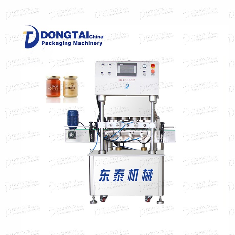 Sos cam şişe vakumlu kapatma makinesi Bal / domates sosu / biber sosu kapatma makinesi