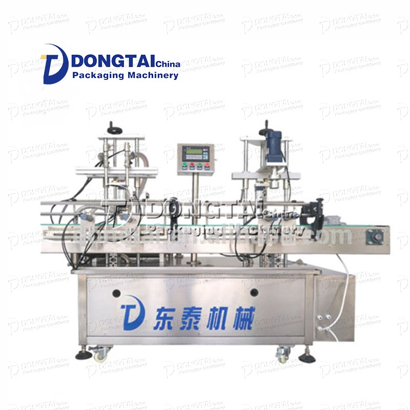 Easy-to-operate filling and capping machine palm oil filling machine, engine oil filling capping machine
