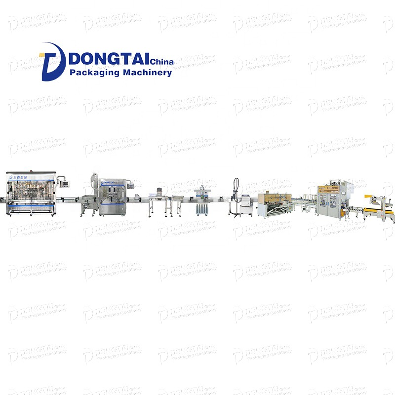 Olive oil filling line that can fill and seal automatic glass containers
