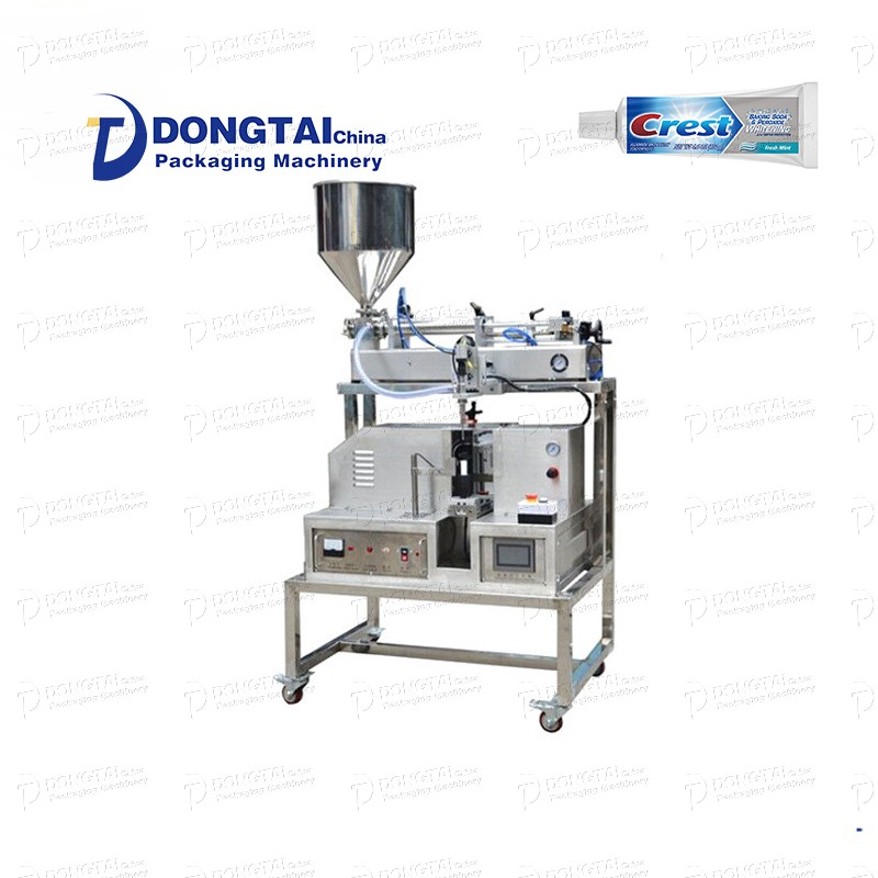 Vertical toothpaste tube filling and sealing machine