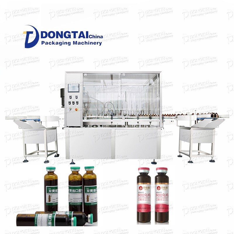 Small liquid filling and capping machine and laboratory