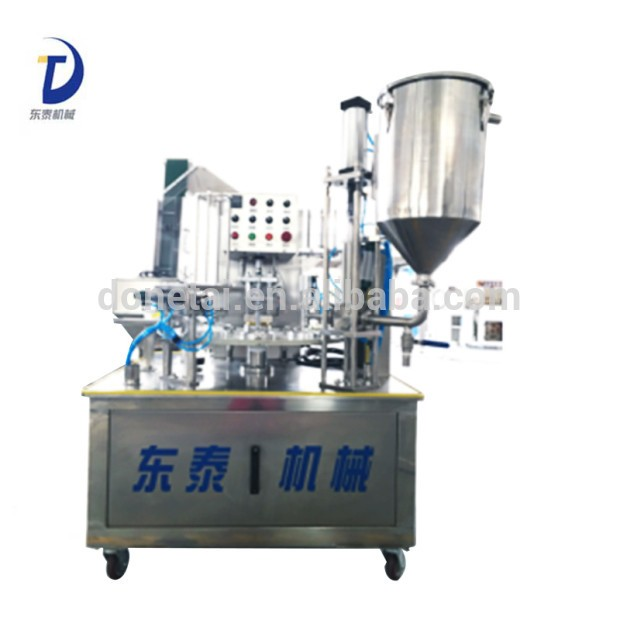 Automatic mini rotary paper cup filling and sealing machine, sealing machine souce filling sealing machine