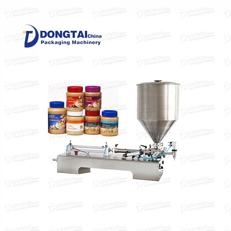 Semi-automatic sauce filling machine, chili sauce filling machine, manual paste filling machine