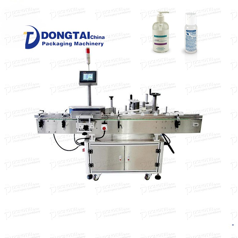 Automatic alcohol liquid round labeling machine