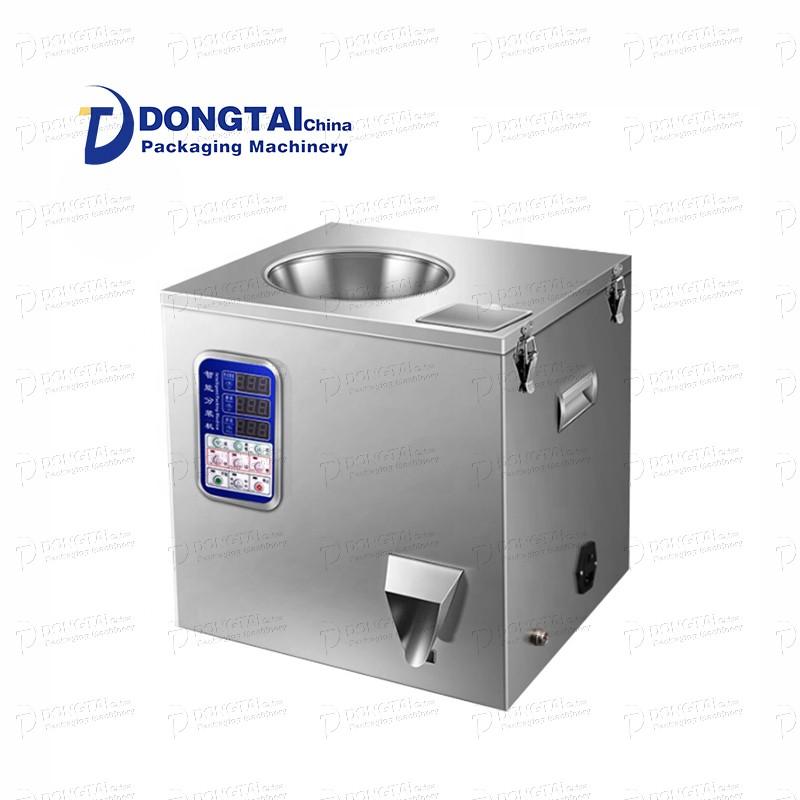 반자동 과립 포장 기계 작은 과립 충전 및 포장 기계 화학 플라스틱 / 향 주머니 분말 과립 포장 기계