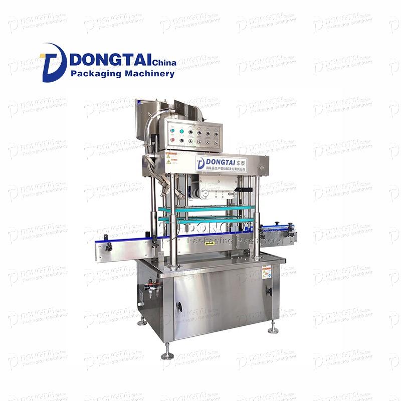 Otomatik cam şişe kapatma makinesi Chili sos doldurma ve kapatma makinesi Masaüstü vakum kapatma makinesi