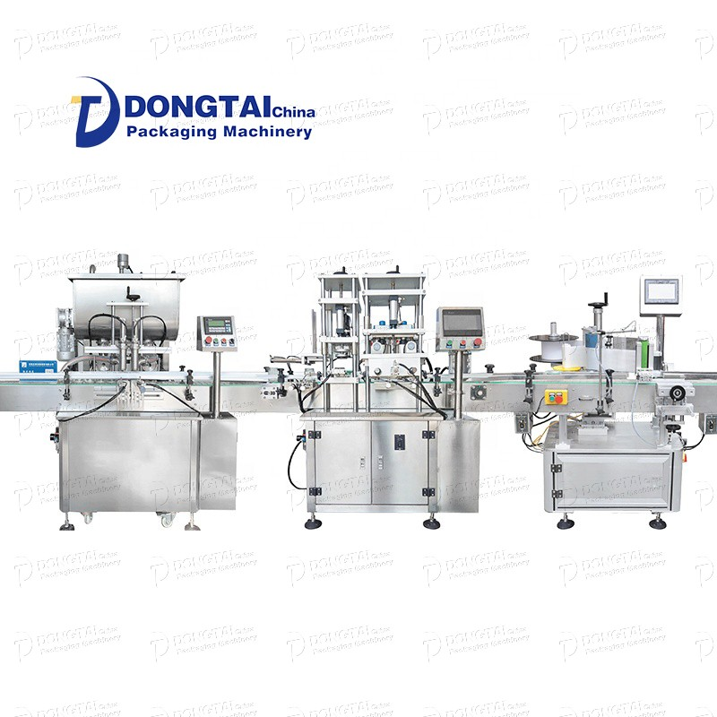 8-head hand sanitizer oil filling line and auto lubricating oil filling line