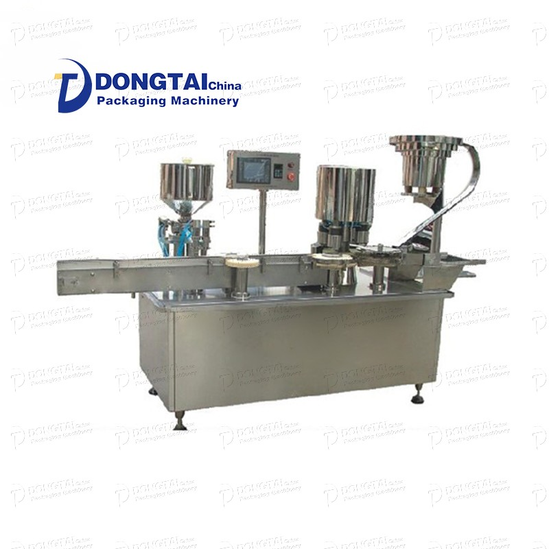 Automatic eye drop liquid filling and capping machine
