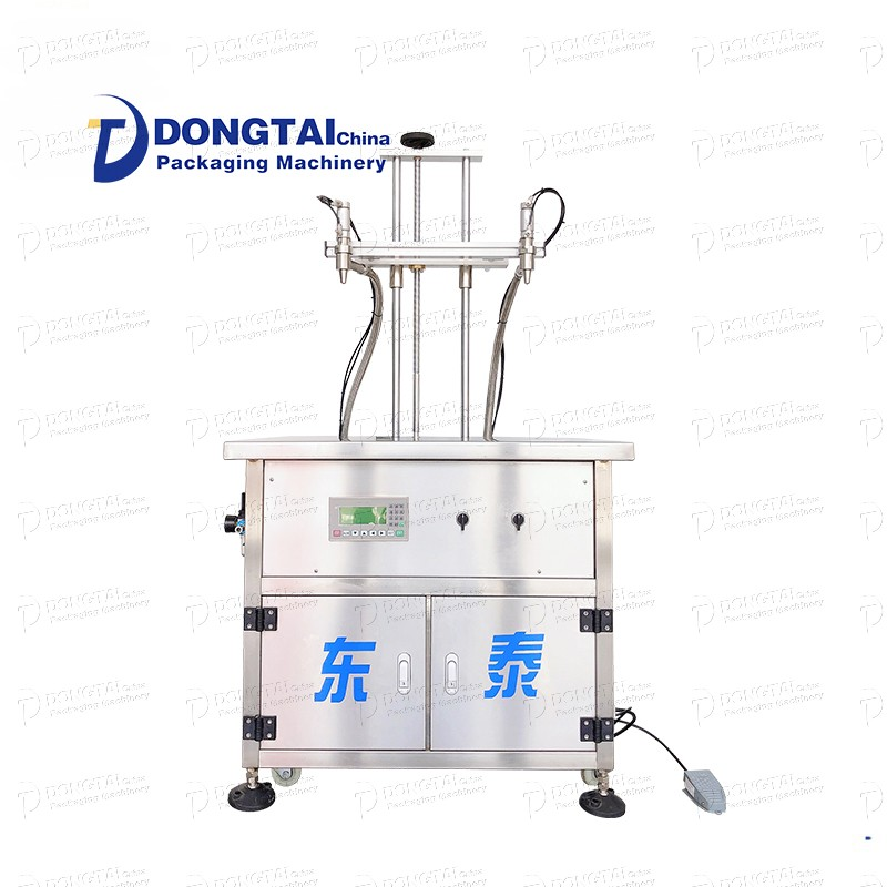 Automatic two-head olive oil peanut soybean oil filling machine