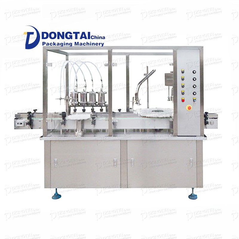 Automatic oral liquid liquid bottle filling and capping machine