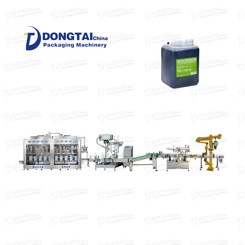 Automatic 1-4L lubricating oil filling machine High precision automatic oil filling production line