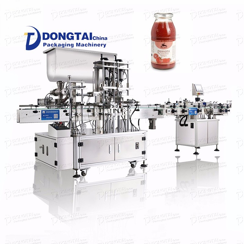 Automatic sauce/chili sauce/chili sauce filling and capping machine